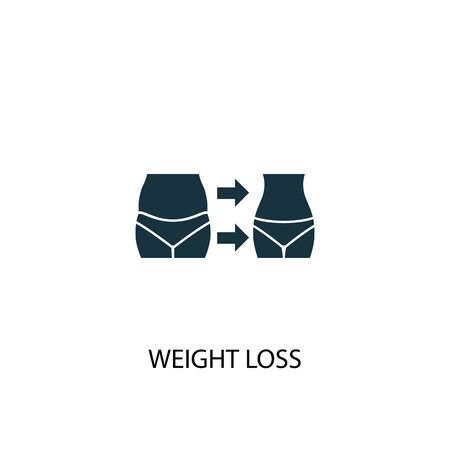 weight loss icon. Simple element illustration. weight loss concept symbol design. Can be used for web Illustration