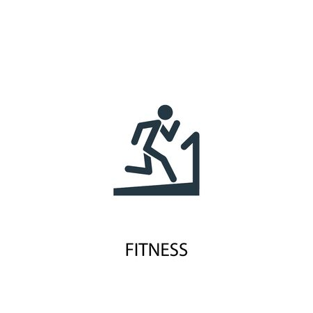 fitness icon. Simple element illustration. fitness concept symbol design. Can be used for web