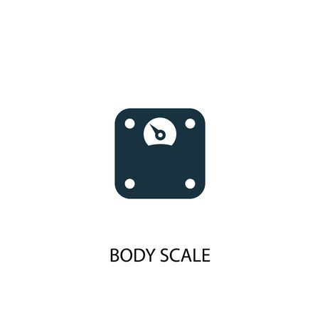 body scale icon. Simple element illustration. body scale concept symbol design. Can be used for web Illustration