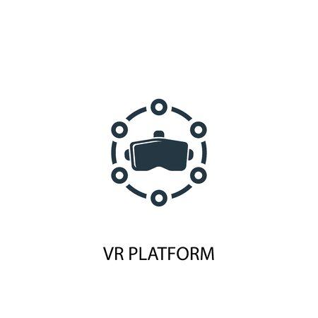 VR platform icon. Simple element illustration. VR platform concept symbol design. Can be used for web Illusztráció