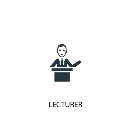 lecturer icon. Simple element illustration. lecturer concept symbol design. Can be used for web Ilustrace