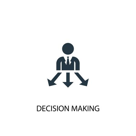 Decision Making icon. Simple element illustration. Decision Making concept symbol design. Can be used for web Ilustrace