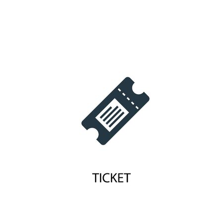 Ticket icon. Simple element illustration. Ticket concept symbol design. Can be used for web Ilustrace