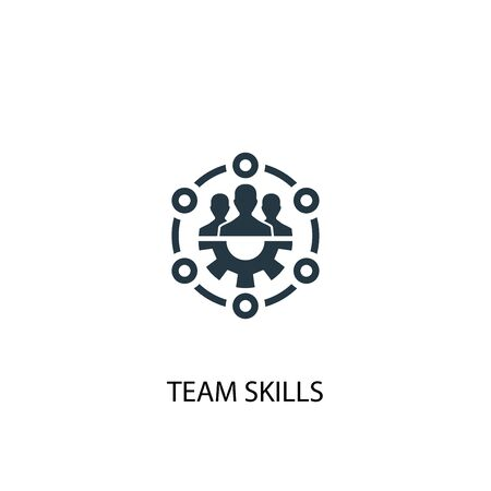 team skills icon. Simple element illustration. team skills concept symbol design. Can be used for web