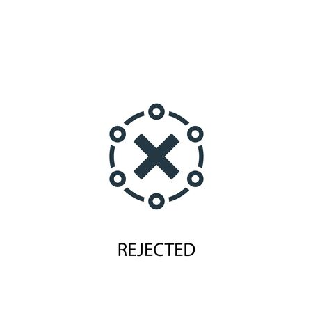 rejected icon. Simple element illustration. rejected concept symbol design. Can be used for web