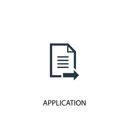 Application icon. Simple element illustration. Application concept symbol design. Can be used for web Ilustrace