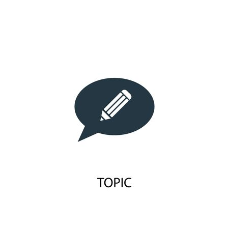 topic icon. Simple element illustration. topic concept symbol design. Can be used for web Ilustrace