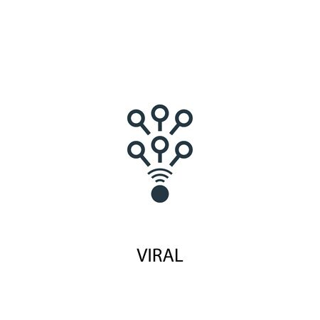 viral icon. Simple element illustration. viral concept symbol design. Can be used for web
