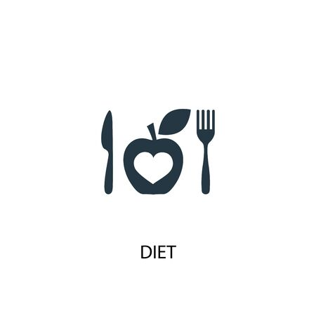 diet icon. Simple element illustration. diet concept symbol design. Can be used for web