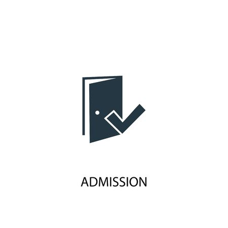 Admission icon. Simple element illustration. Admission concept symbol design. Can be used for web