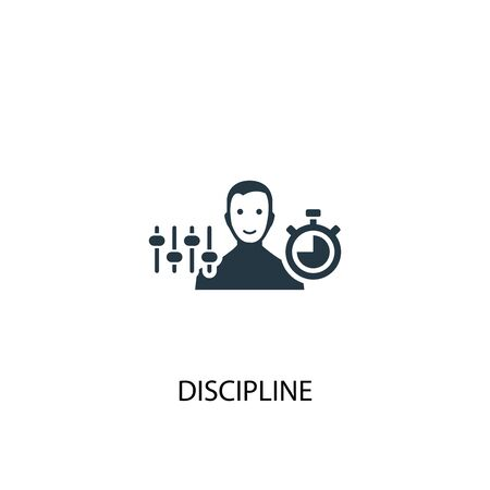 Discipline icon. Simple element illustration. Discipline concept symbol design. Can be used for web
