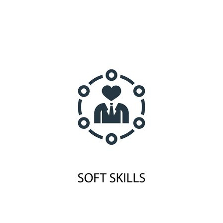 Soft skills icon. Simple element illustration. Soft skills concept symbol design. Can be used for web