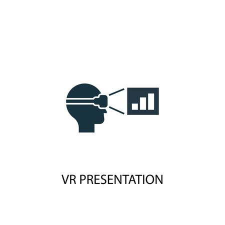 VR presentation icon. Simple element illustration. VR presentation concept symbol design. Can be used for web