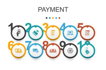 payment Infographic design template.Invoice, money, bill, discount icons