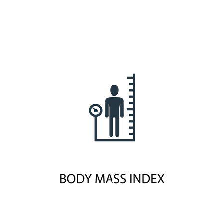 Body-Mass-Index-Symbol. Einfache Elementabbildung. Body-Mass-Index-Konzept-Symboldesign. Kann für Web verwendet werden Vektorgrafik