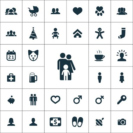 family icons universal set for web and mobile.