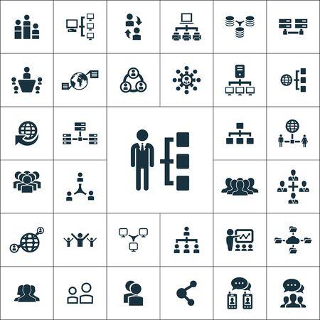 Netzwerksymbole universelles Set für Web und Mobile. Vektorgrafik