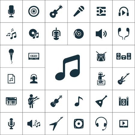 music icons universal set for web and mobile. Stock Illustratie