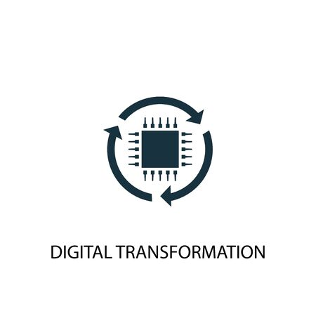digital transformation icon. Simple element illustration. digital transformation concept symbol design. Can be used for web and mobile.