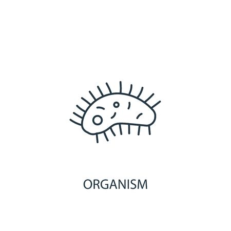 organism concept line icon. Simple element illustration. organism concept outline symbol design. Can be used for web and mobile UI Иллюстрация