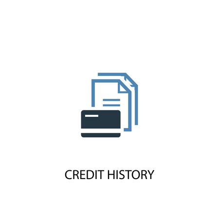 Credit history concept 2 colored icon. Simple blue element illustration. Credit history concept symbol design. Can be used for web and mobile