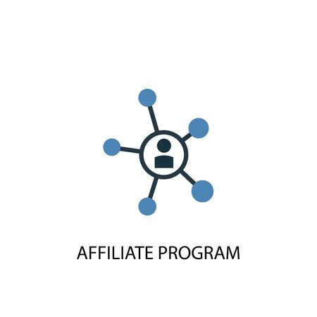 Affiliate Program concept 2 colored icon. Simple blue element illustration. Affiliate Program concept symbol design. Can be used for web and mobile