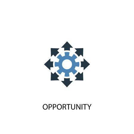 opportunity concept 2 colored icon. Simple blue element illustration. opportunity concept symbol design. Can be used for web and mobile