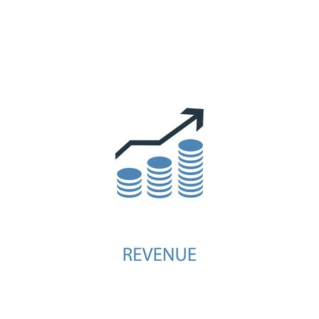 revenue concept 2 colored icon. Simple blue element illustration. revenue concept symbol design. Can be used for web and mobile