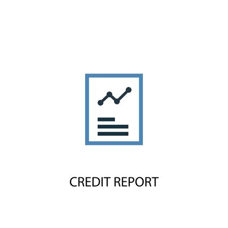 Credit report concept 2 colored icon. Simple blue element illustration. Credit report concept symbol design. Can be used for web and mobile Ilustrace
