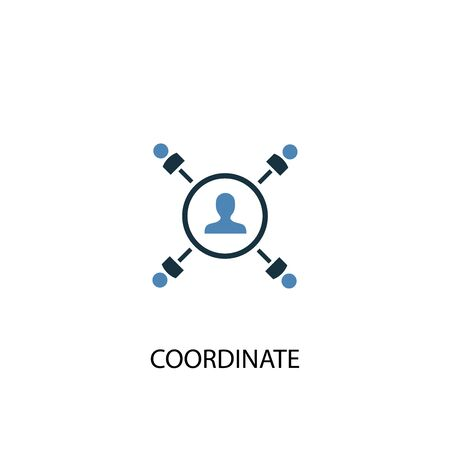 coordinate concept 2 colored icon. Simple blue element illustration. coordinate concept symbol design. Can be used for web and mobile