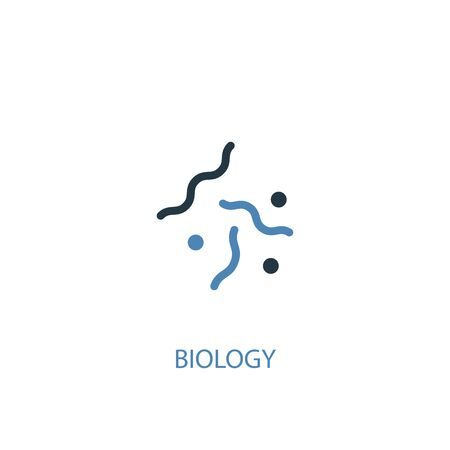 biology concept 2 colored icon. Simple blue element illustration. biology concept symbol design. Can be used for web and mobile