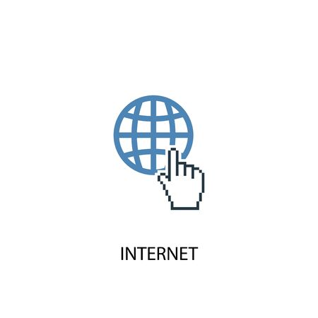 internet concept 2 colored icon. Simple blue element illustration. internet concept symbol design. Can be used for web and mobile