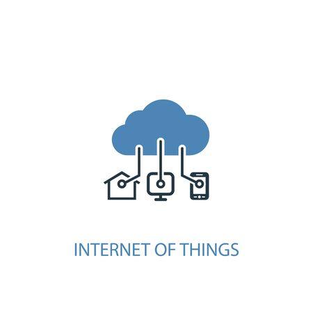 Internet der Dinge Konzept 2 farbiges Symbol. Einfache blaue Elementillustration. Internet der Dinge Konzept Symboldesign. Kann für Web und Mobile verwendet werden