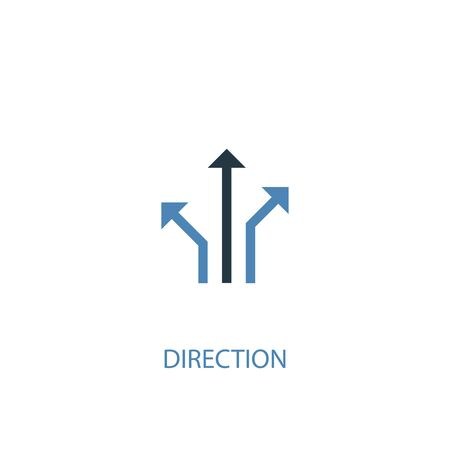 direction concept 2 colored icon. Simple blue element illustration. direction concept symbol design. Can be used for web and mobile Illusztráció