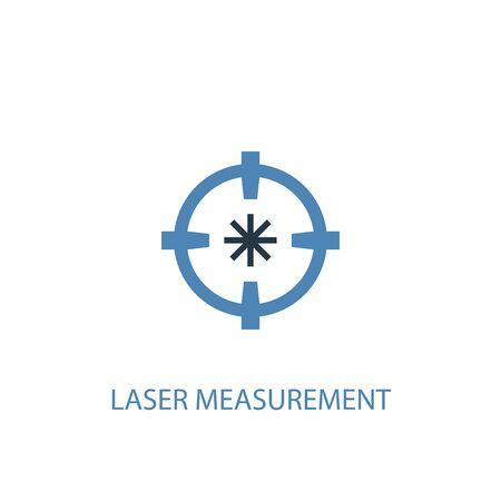 Laser measurement concept 2 colored icon. Simple blue element illustration. Laser measurement concept symbol design. Can be used for web and mobile