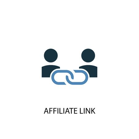 Affiliate Link concept 2 colored icon. Simple blue element illustration. Affiliate Link concept symbol design. Can be used for web and mobile