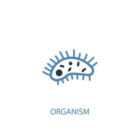 organism concept 2 colored icon. Simple blue element illustration. organism concept symbol design. Can be used for web and mobile