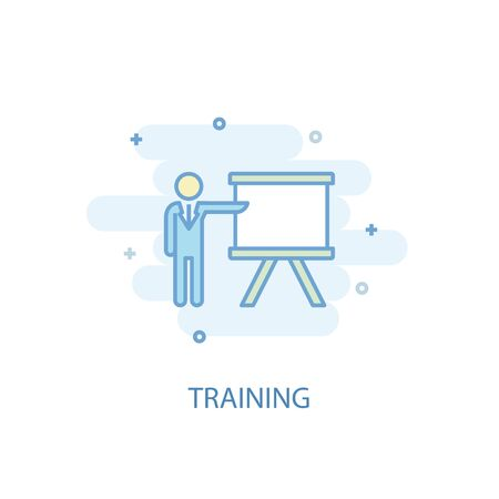 training line concept. Simple line icon, colored illustration. training symbol flat design. Can be used for