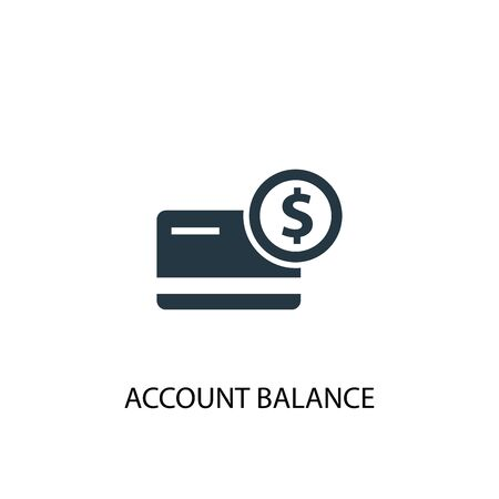account balance icon. Simple element illustration. account balance concept symbol design. Can be used for web 일러스트
