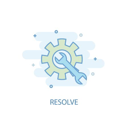 resolve line concept. Simple line icon, colored illustration. resolve symbol flat design. Can be used for