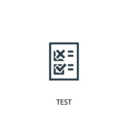 test icon. Simple element illustration. test concept symbol design. Can be used for web