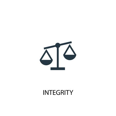 integrity icon. Simple element illustration. integrity concept symbol design. Can be used for web