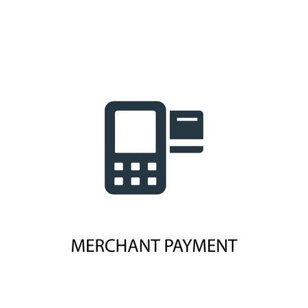Merchant payment icon. Simple element illustration. Merchant payment concept symbol design. Can be used for web 版權商用圖片 - 130775912