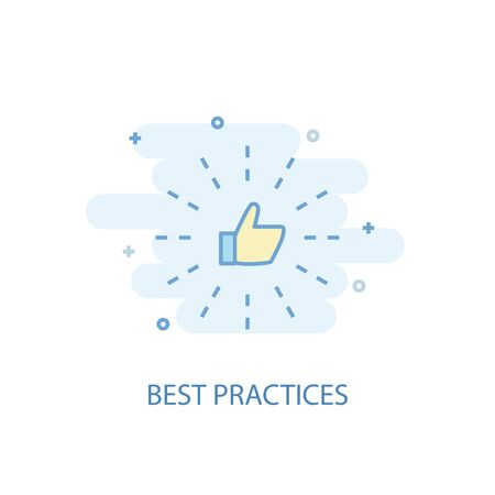 Best Practices line concept. Simple line icon, colored illustration. Best Practices symbol flat design. Can be used for UI Illusztráció
