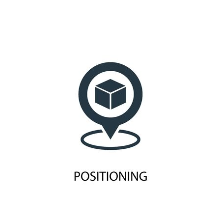 Positioning icon. Simple element illustration. Positioning concept symbol design. Can be used for web Illustration