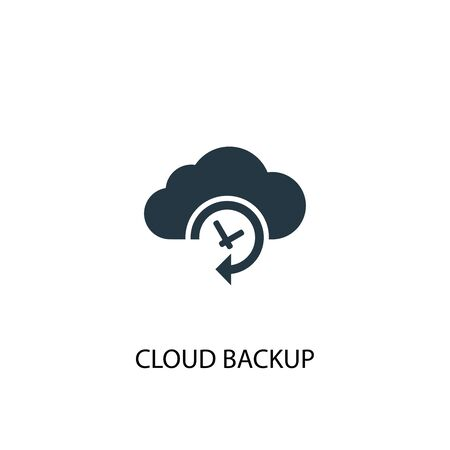 Cloud Backup icon. Simple element illustration. Cloud Backup concept symbol design. Can be used for web