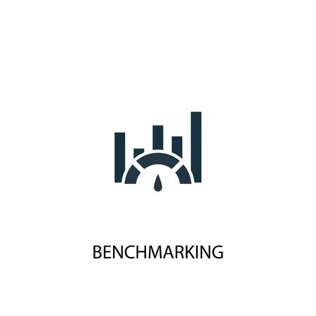 Benchmarking icon. Simple element illustration. Benchmarking concept symbol design. Can be used for web