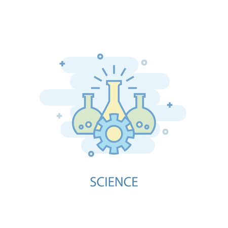science line concept. Simple line icon, colored illustration. science symbol flat design. Can be used for