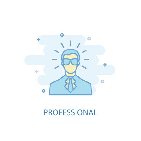 professional line concept. Simple line icon, colored illustration. professional symbol flat design. Can be used for
