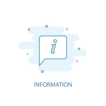 information line concept. Simple line icon, colored illustration. information symbol flat design. Can be used for  イラスト・ベクター素材